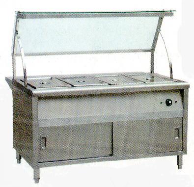 不锈钢四格保温台