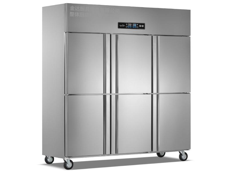 立式暗管六门双机双温冷冻冷藏柜系列