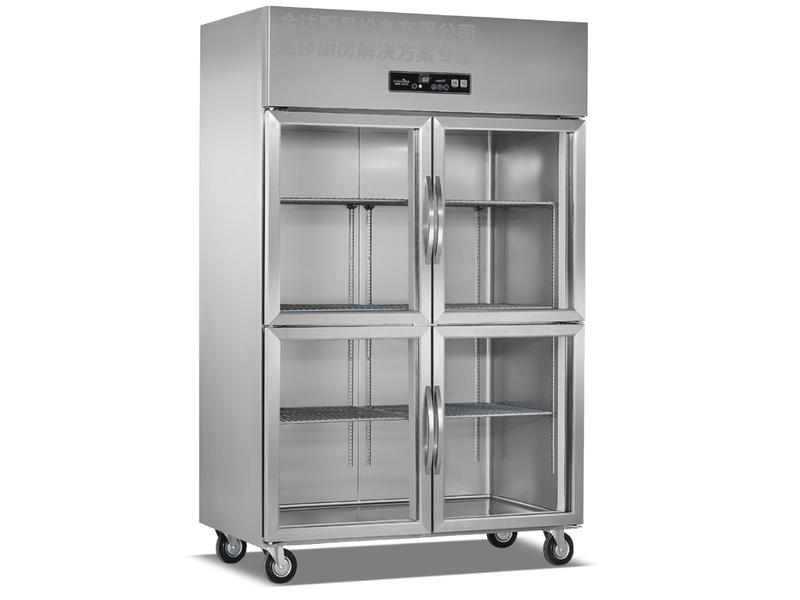 立式暗管玻璃门双机双温冷藏柜系列