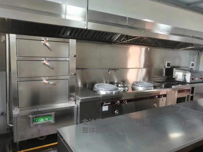 超节能小炒炉连蒸柜整体厨房案例